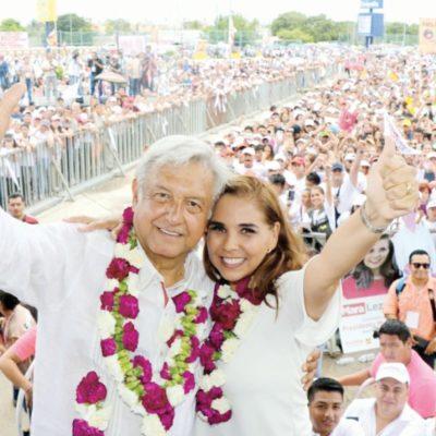 Rompeolas: Ayuntamiento 'morenista' de Cancún 'no confía' en AMLO