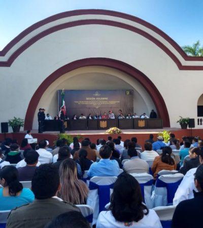Autoridades de la Zona Maya, toman protesta ante el cabildo de Felipe Carrillo Puerto