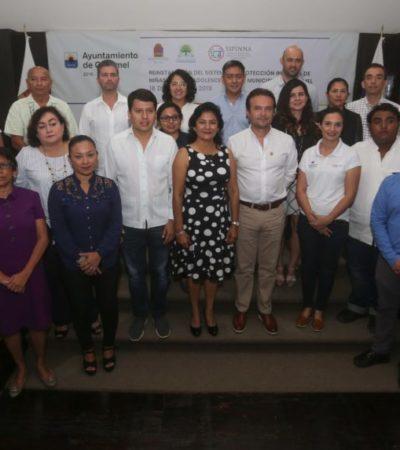 Pedro Joaquín encabeza la sesión de toma de protesta y reinstalación del Sistema de Protección Integral de Niñas, Niños y Adolescentes de Cozumel