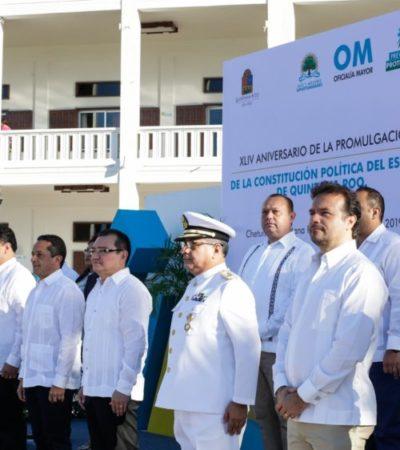 Asiste Pedro Joaquín a celebración del 44 Aniversario de la Promulgación de la Constitución Política de Quintana Roo