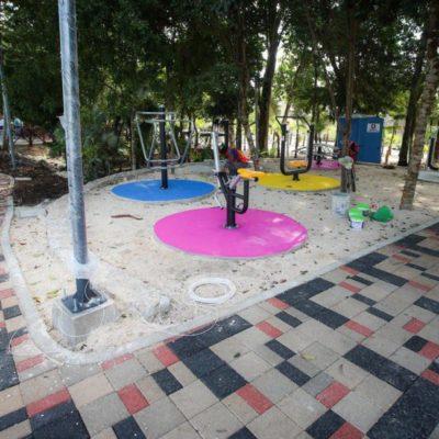 Crea gobierno de Puerto Morelos espacios públicos para la recreación de familias de Villas Morelos I y II