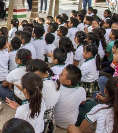 Con nuevos programas de apoyo a la educación, Puerto Morelos se prepara para el regreso a clases de 5 mil alumnos