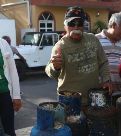 Autoridades de Isla Mujeres firman convenio con gasera para rebajar el precio en el municipio
