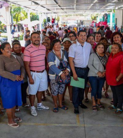 Eligen tianguistas a sus representantes en Isla Mujeres