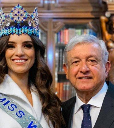 BELLEZA CON CAUSA: Se reúne AMLO con Vanessa Ponce, mexicana que ganó Miss Mundo