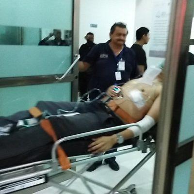 Apuñalan a un joven en un campo deportivo de la Región 200 de Cancún