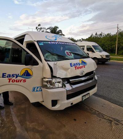 Muere trabajador arrollado en carretera federal frente al hotel Blue Bay