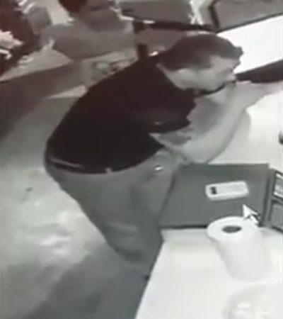 Video capta a banda de asaltantes en Villas del Sol