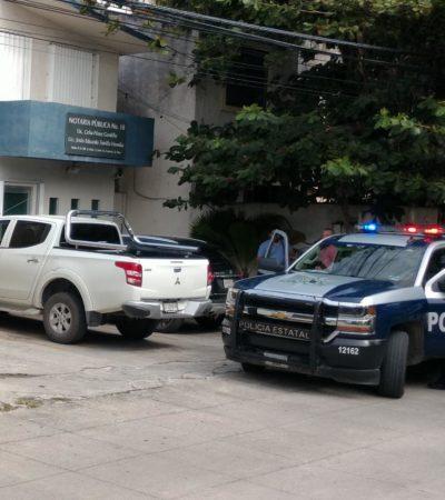 Asaltan notaría en Cancún de Celia Pérez Gordillo