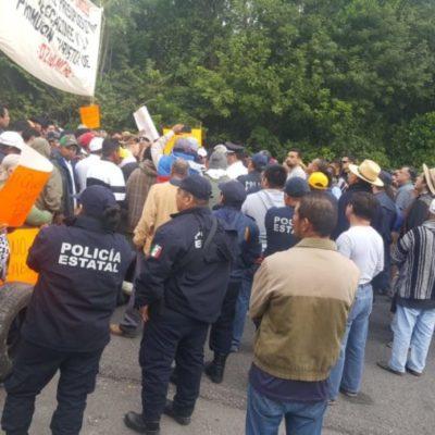 Iniciarán rehabilitación de caminos en la zona limítrofe con Campeche, tras manifestación de ciudadanos