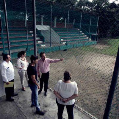 Recorren legisladores federales unidades deportivas de la isla  para constatar el estado que guardan las instalaciones