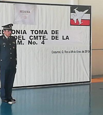 Cambian mando en base aérea militar de Cozumel