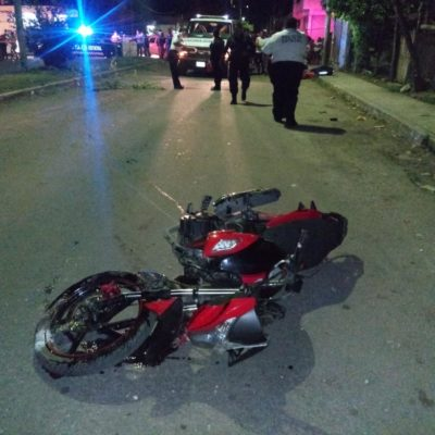 Motociclista queda grave tras ser arrollado en Chetumal