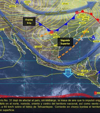 Pronostican nuevo frente frío para el miércoles en la península de Yucatán