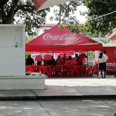 Maestros del Conalep 2 de Cancún, en paro por desigualdad en el reparto de horas