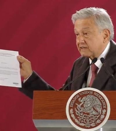 AMLO hace pública su declaración patrimonial; no tiene cuentas de cheques ni créditos bancarios