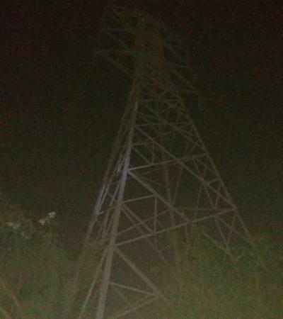 Hombre sube a torres de alta tensión y muere electrocutado en Playa del Carmen