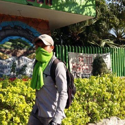 Repliegan antimotines a normalistas en Chiapas; acusan que gobernador morenista resultó represor
