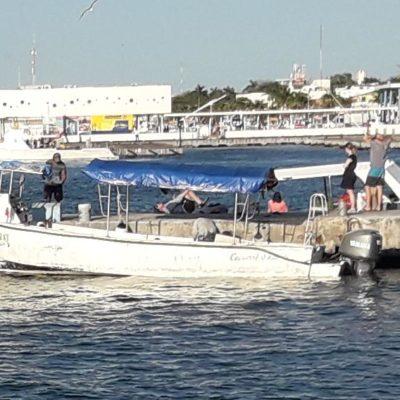 'Flamazo' en barco deja a dos heridos en Cozumel