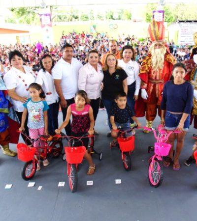 Autoridades de Puerto Morelos celebran el Festival de Reyes en Leona Vicario