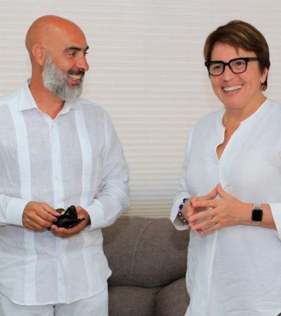 Se reúne embajador de Argentina con Laura Beristaín y anuncia apertura de una representación en Playa del Carmen para atender a sus connacionales viajeros y residentes