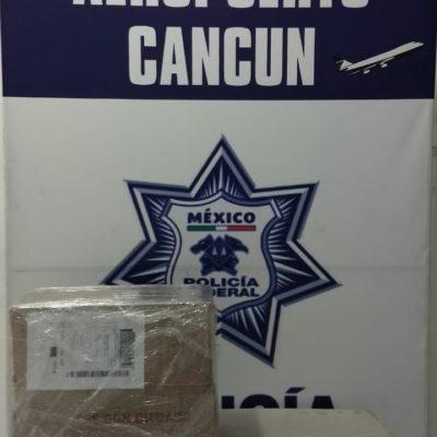 Asegura la Policía Federal, 5 kg de marihuana en el Aeropuerto Internacional de Cancún