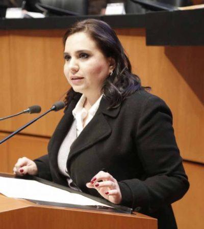 """""""Gobierno Federal incapaz de mantener la estabilidad en el país"""", dice la Senadora Mayuli Martínez al criticar estrategia contra el 'huachicoleo'"""