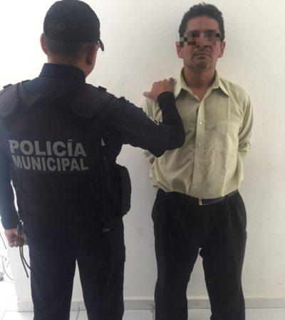 Detienen a ladrón de herramientas en Chetumal
