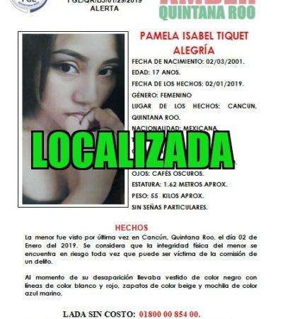 Encuentran a joven reportada como desaparecida en Cancún