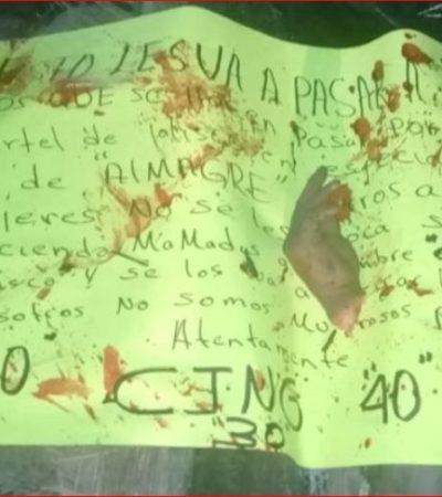 Despedazan a cuatro hombres y dejan narcomensaje; gobernador y fiscal reparten 'culpas' en Veracruz