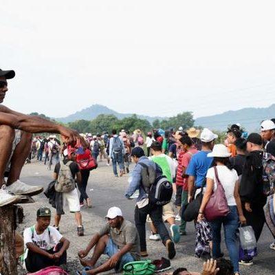 Ofrecerán a migrantes visa y empleo en Tren Maya; hoy podría entrar a Chiapas nueva caravana