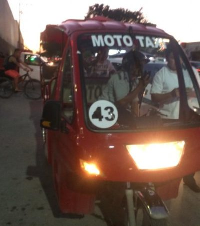 Taxistas denuncian que delegado es un 'traidor' por ser dueño de mototaxis