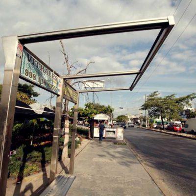 PARADEROS, EN EL OLVIDO PERMANENTE: Por segunda administración consecutiva, continúa el deterioro de la infraestructura urbana de Cancún