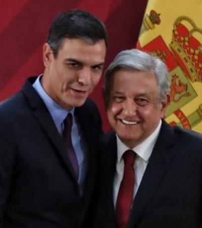 Entrega Pedro Sánchez a AMLO acta de nacimiento de su abuelo, quien nació en Cantabria en 1893