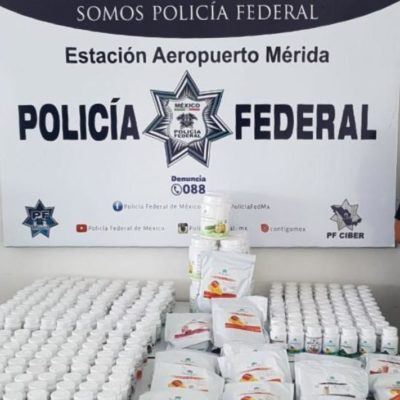 ¡AGUAS CON LO QUE COMPRAS EN YUCATÁN!: Asegura Policía Federal cigarros, ropa, perfumes y hasta pastillas 'piratas'