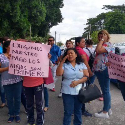 Protestan propietarios por cancelación del subsidio a guarderías en Yucatán; empleados exigen pagos atrasados