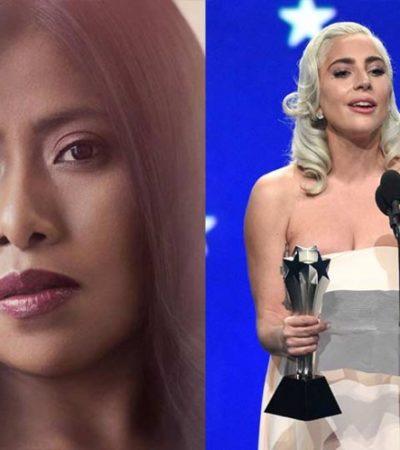 VIDEO | Así reaccionó Yalitza cuando Lady Gaga ganó como Mejor Actriz en los 'Critics' Choice Awards'