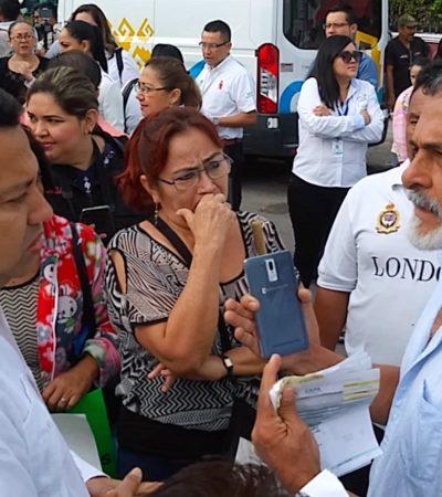 Intenta funcionario 'convencer' a vecinos de Chetumal a no manifestarse por cobros excesivos de CAPA en audiencia del Gobernador