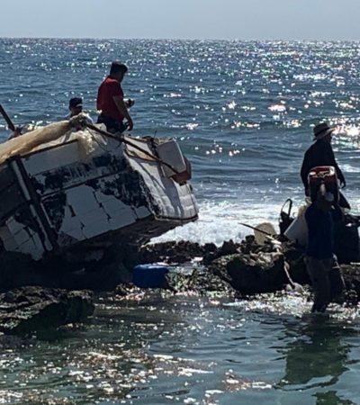 ENCALLA EMBARCACIÓN DE INMIGRANTES EN PUERTO AVENTURAS: Reportan arribo de barcaza en la madrugada, pero nadie fue asegurado