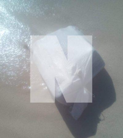 Recalan paquetes con marihuana en playa de Xcalacoco