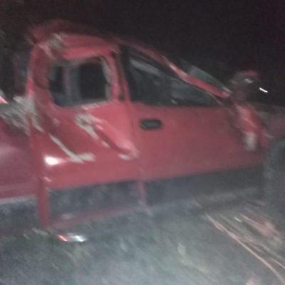 ACCIDENTE EN LA CARRETERA: Saldo de dos muertos y cinco heridos por choque en la vía Mérida-Cancún