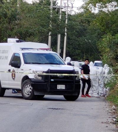 CONFIRMAN DESCUARTIZADO EN CANCÚN: Abandonan bolsas de basura con restos humanos en el fraccionamiento Vista Real en la SM 252