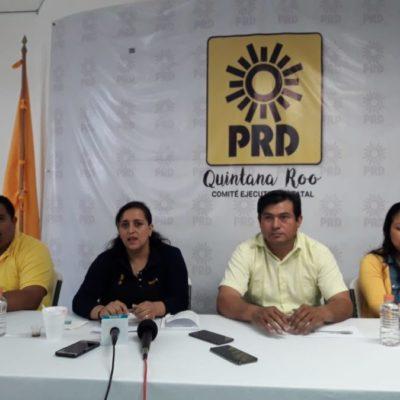 """""""A cien días de gobierno, Mara Lezama está reprobada en materia de corrupción y transparencia"""", afirman integrantes del PRD"""