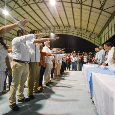 Víctor Mas Tah toma protesta a presidentes de Comités de Vecinos de Tulum