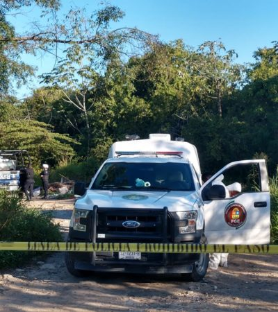 ENCUENTRAN BOLSAS CON RESTOS HUMANOS: Macabro hallazgo atrás del fraccionamiento Los Ángeles, en la SM 215 de Cancún
