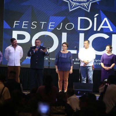 En festejo del Día del Policía, Laura Beristaín llama a trabajar coordinados con la Guardia Nacional