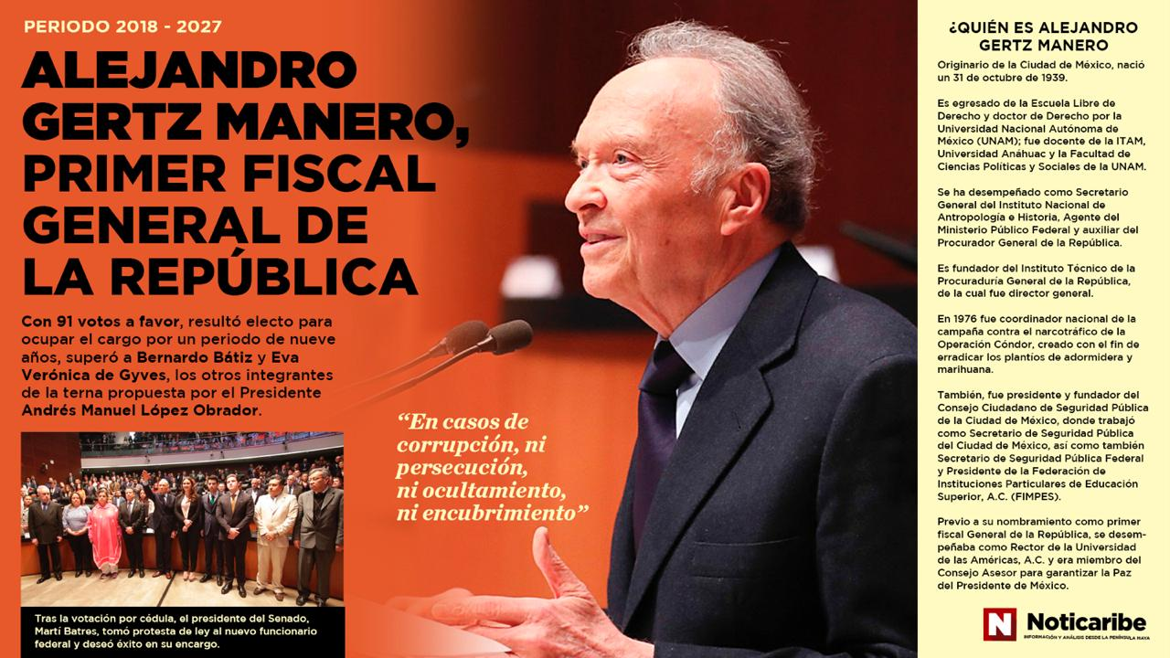 Eligen a Alejandro Gertz Manero como el primer Fiscal General de la República
