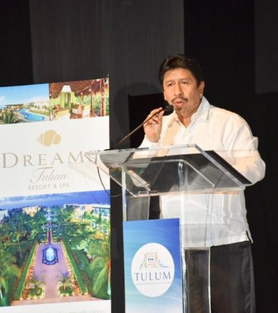 Destaca Víctor Mas fortalezas turísticas de Tulum durante la toma de protesta de la Mesa Directiva de la Asociación de Hoteles