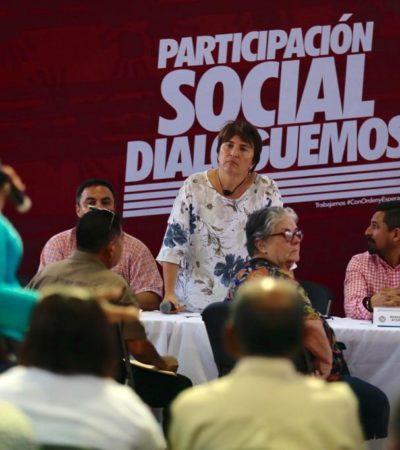 Realiza Alcaldesa en Puerto Aventuras jornada del programa 'Dialoguemos' para atender problemas