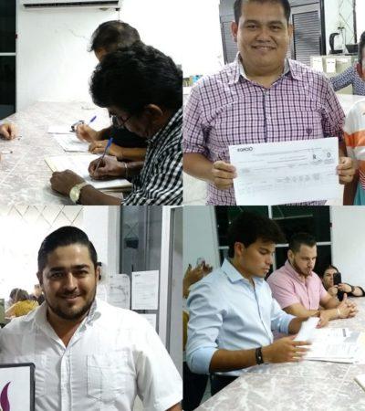 Presentan solicitud de registro como aspirantes a candidatos a diputados por la vía independiente en Quintana Roo